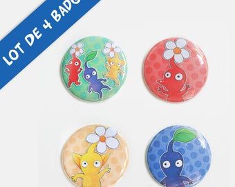 Pikmin - set of 4 badges