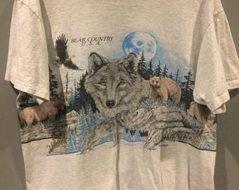 1991 bear country USA nature shirt
