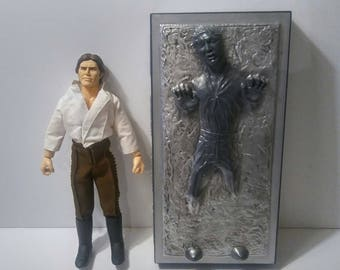 "Vintage Star Wars Collector Series Figure Doll Han Solo Carbonite 12"" Loose"