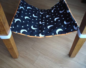 Cat Hammock Bedding for chairs // also for kittens, small dogs, ferrets, and other small animals // Velcro straps // sling // hanging bed