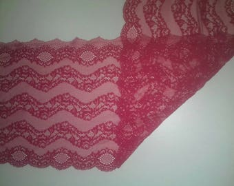 lace of calais Fuchsia pink or blue 25 cm wide sold by 20 cm long cut to desired size