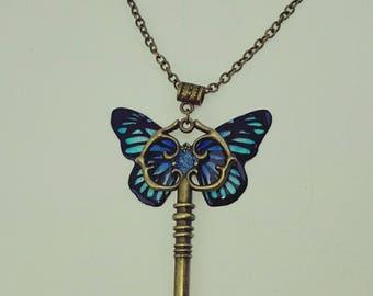 pretty Butterfly key necklace