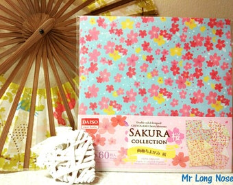60 sheets double sided designed origami paper 15*15 cm SAKURA COLLECTION