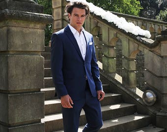 Hand Tailored Mens Stretch Suits for Wedding, Groomsmen, Groom Suit