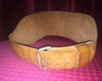 Men's Vintage Altus Leather Weight Lifting Belt Extra Large 45-47