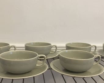 Paden City Midcentury Modern cups and saucers