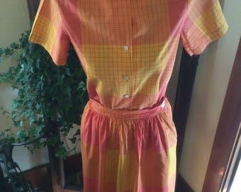 Vintage evan picone skirt and shirt
