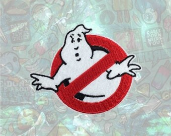 No Ghost Patch Ghostbusters patch back patch hat patch bag patch Halloween sew on patch Iron on Patch Cosplay