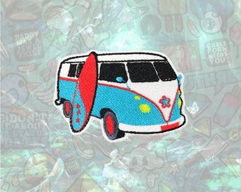 Surfing Microbus Patch Summer Patch Iron on Patch Sew On Patches