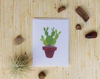 Bunny Ear cactus Greeting Card