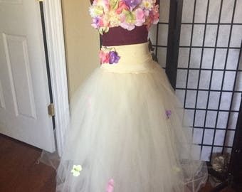Flower Garden -Girls custom competition dance costume