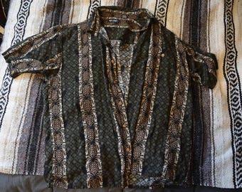 Hawaiian Pineapple Shirt Size L