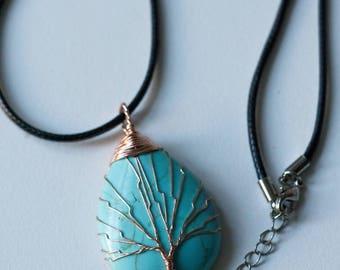 Turquoise Tree of Life Pendant (0154)