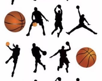 Basketball Temporary Tattoo Sticker. Party Supplies Bunting Lolly Loot Bags