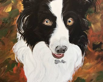 "Custom Pet Portraits - Acrylic on Canvas 16"" x 20"""