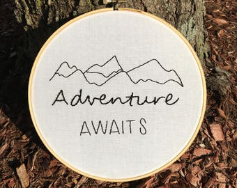 Adventure Awaits // Handmade Embroidery