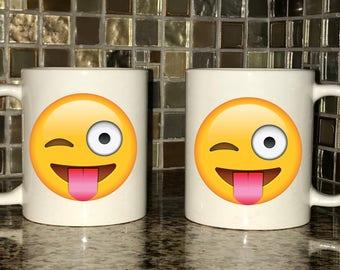 Mug - Tongue Out Winking Emoji