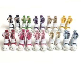Toy Boots Casual Sneakers for Dolls,1/8 BJD Doll Shoes Canvas Shoes for Blythe Doll,Mini High Boots for Dolls 3.5CM,Fashion Doll Accessories