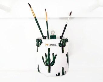 Mini Storage Bins,wall grid storage,Cacti,Cactus,Botanical,organiser bin,small storage,storage basket,black and white.