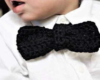 Crochet Baby Boy Bow Tie, Baby Photo Prop, Newborn Bow Tie, Baby Bowtie, Infant Bow Tie, Little Man Bow Tie, toddler valentine outfit
