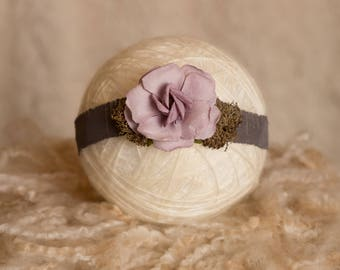 Lilac Tieback, Newborn Headband