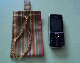 Striped cotton phone kind bayadere case