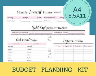 Monthly Financial Planner. Monthly Budget Planner. Monthly Bill Planner.