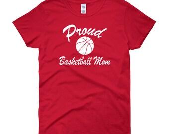 Proud Basketball Mom Women's short Sleeve Tshirt
