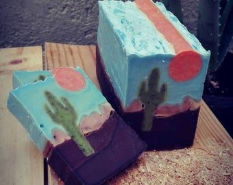 Landscape of SOAP, Sonora desert / Sonora Desert Landscape Soap