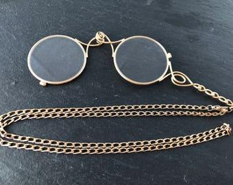 Vintage - folding glasses lorgnette