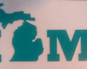 Michigan Home Vinyl Decal