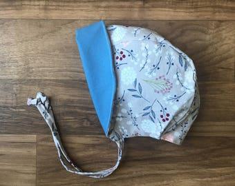 Baby bonnet || Toddler bonnet || Sun bonnet || Sun hat || Floral bonnet || Brimmed bonnet || Baby shower || Reversible bonnet