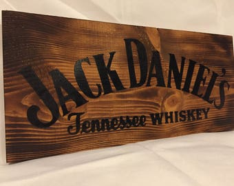 Jack Daniel's Tennessee Whiskey Handmade Wood Sign