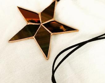 Star Pendant: Tortoise and Bronze Mirror