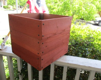 Square Redwood Planter