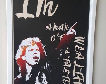 Mick Jagger Rolling Stones A4 art print