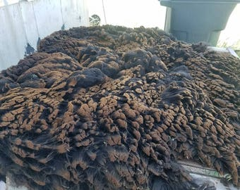 CVM x Merino natural black fleece