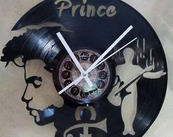 PRINCE vinyl record clock