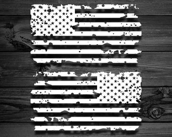 Distressed American Flag Vinyl Decal Pair, Flag Decal, American Flag, Flag Sticker, Distressed Flag, Car Decal, Yeti Decal, US Flag, Sticker