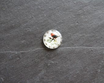 "Cabochon 20 mm ""nature theme"" clock"