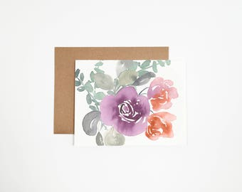 Floral Greeting Card - Can Be Customized With Writing