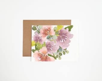 Floral Bouquet #3 Greeting Card - Can Be Customized With Writing