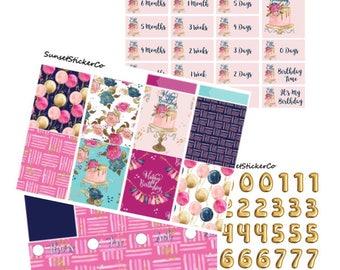 Birthday Babe   Erin Condren Weekly Kit (K20)  