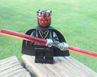Star Wars Darth Maul Custom Sith Minifigure Size and Compatible New