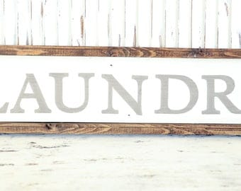 Laundry Sign, Laundry Wood Sign, Farmhouse Style, Harvest Sign, Rustic Fall Decor, Vintage, Farmhouse, Thanksgiving Decor, Wood Signs