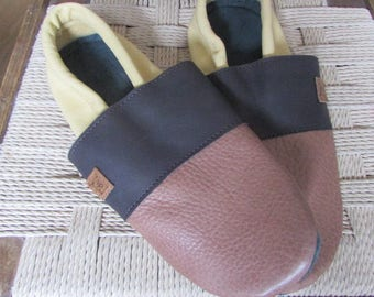 Leather Slippers 38 EU