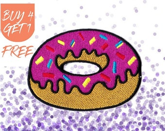 Candy Patches Donut Patches Iron On Patch Embroidered Patch Snack Doughnut