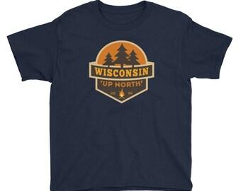 Up North Wisconsin Kids Shirt
