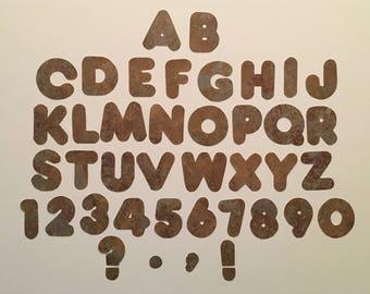 "2"" Bulletin Letters-Stone grain"