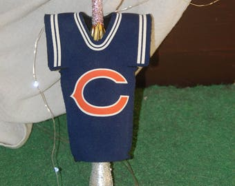 Vintage Christmas Tree Topper Ornament Angel Chicago Bears Cozy